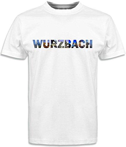 T-Shirt mit Städtenamen Wurzbach Weiß