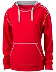 James & Nicholson Damen Sweatshirt Kapuzensweatshirt Ladies' Lifestyle Hoody