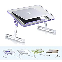 Wooden Foldable Portable Laptop Table with Cooling Fans