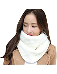 a1b5124889f7 Winfon Echarpe Snood Femme Tricot hiver Tricotée Tube    Écharpe Tubulaire     Écharpe Cercle