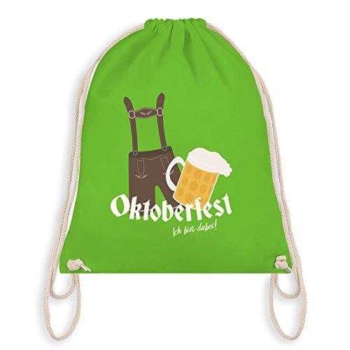 Oktoberfest Herren - Oktoberfest - Ich bin dabei! - Unisize - Hellgrün - WM110 - Angesagter Turnbeutel / Gym Bag