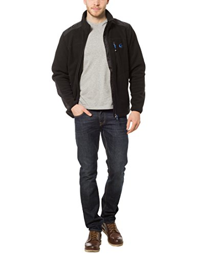 Ultrasport Stalwart - Forro polar deportivo de punto para hombre, color negro / azul, talla XL