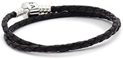 Pandora Damen-Armband Leder schwarz 38cm 59705CBK-D2