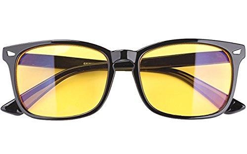 EFK UV Brillen Blaues Licht-Blockierende GläSer Gamer Brille Eyewear for PC, Smartphone, Computer Lesebrillen- Gelbe Linsen Goggles