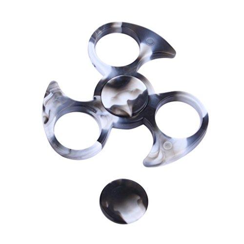 OverDose Amazing!!! Sin armazón de marco de rodamiento para Tri-Spinner Hand Spinner EDC Fidget Toy (Negro-1)