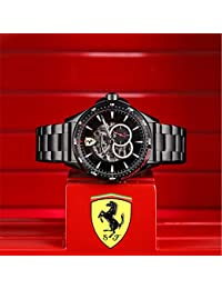 Scuderia Ferrari Hommes Squelette Automatique Montres bracelet avec bracelet en Acier Inoxydable - 830602