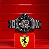 Scuderia Ferrari Orologio Skeleton Automatico Uomo con Cinturino in Acciaio Inox 830602