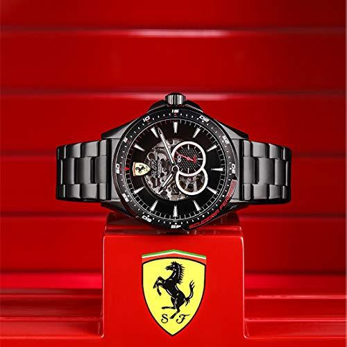 Scuderia Ferrari Orologio Skeleton Automatico Uomo con Cinturino in Acciaio...