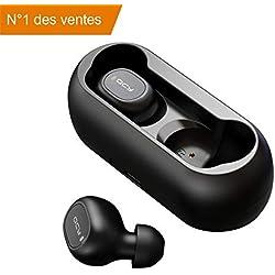 HOMSCAM Écouteurs Bluetooth, Écouteur sans Fil Oreillette Bluetooth Léger Stéréo HD Casque Sport Étanche Boîtier de Chargement Lecture de Microphone Intégré pour iOS et Android