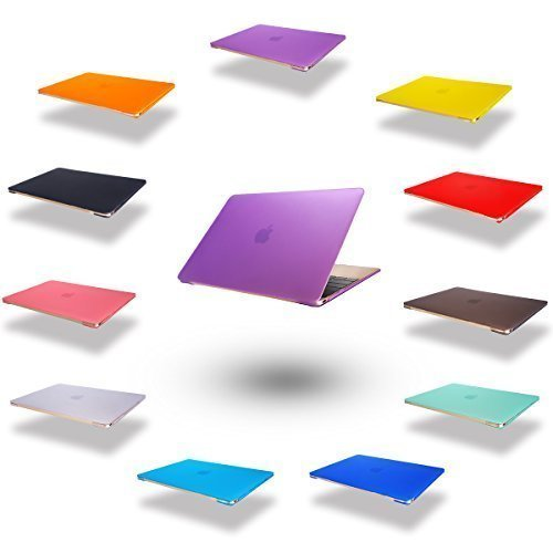 Elegantes und leichtes Cover Ultra Dünn Schutz Hülle Case Cover Schutzabdeckung Hardcase Notebook Hülle Hartschale Etui für Apple Macbook Air 11.6 Zoll(Modellnummer:A1370/A1465) in lila (11 Air Macbook Refurbished)