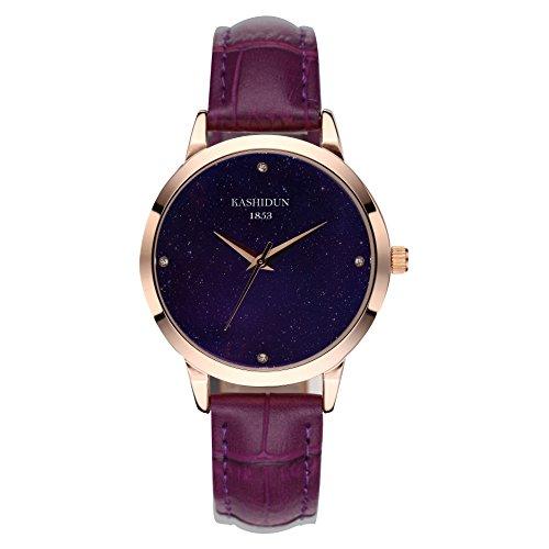 fc45023536e0f KASHIDUN Women s Waterproof Luxury Top Brand Watch Diamonds Crystal Elegant Ladies  Watch Purple.XK-