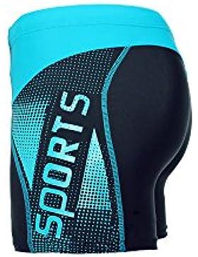 WY1688 Pantalones Cortos De Natación Para Hombres De Secado Rápido Boxer Anti Cloro Spas Beach Surf Sexy Jammer...