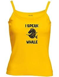 Brand88 - I Speak Whale, Lady-Fit Strap Tee
