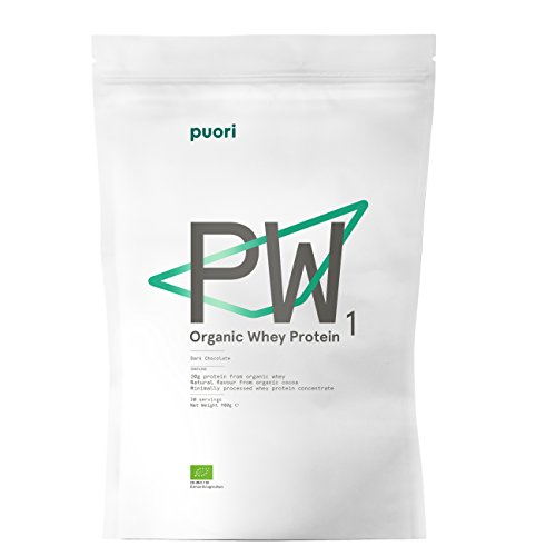 Puori PW1 Organic Whey Protein Shake [Eiweiß Pulver für Schneller Muskelaufbau] 100% Bio Mass Gainer [Pre Workout Fitness Booster Drink] 900gr/30 Tage
