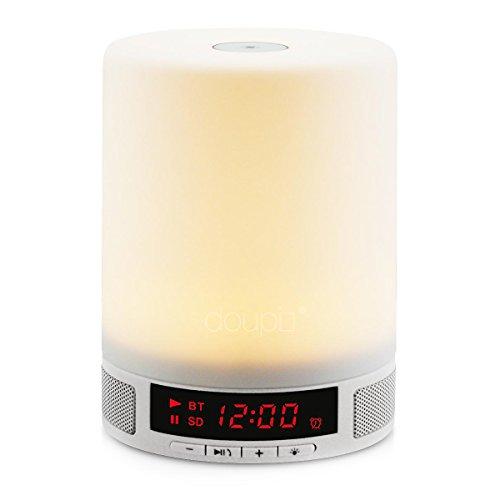 doupi Touch Lighting Bluetooth Speaker Luz Nocturna LED con Alarma de Altavoces Multi función