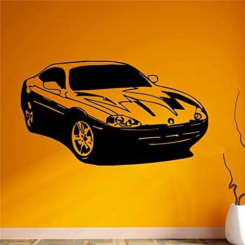 supmsds Nuevo Racing Car Stickers de Pared Decoración de Arte Decoración para el hogar Vinilos Removibles Tatuajes de Pared Nursery Kids Room Living Wall Sticker M 42 X 75 CM