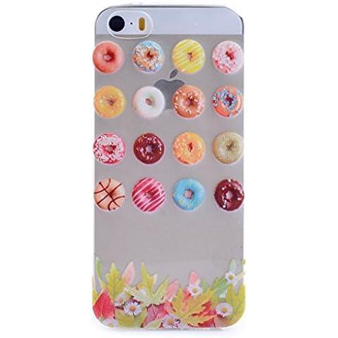 PowerQ M-M [ para IPhoneSE IPhone 5S SE 5 5G IPhone5S IPhone5 - colorful candy ] Suave cubierta de la caja de TPU Case Cover con hermosa bonita del modelo de dibujo de impresión Impresión…