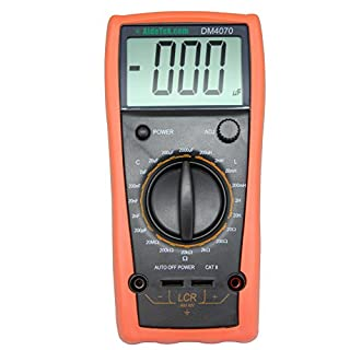AideTek DM4070 LCR meter capacitance Inductance Resistance self-discharge compared with FLUKE