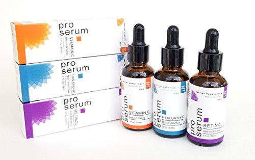 Pro Anti-Aging Gesichtsserum-Set I Pro Retinol Serum | Pro Vitamin C Serum | Pro Hyaluronsäure Serum | die ultimative Hautwiederherstellung für jeden Hauttyp | von Secret Essentials