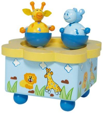 Spieluhrenwelt 44026 Tanzender Giraffe und Nilpferd