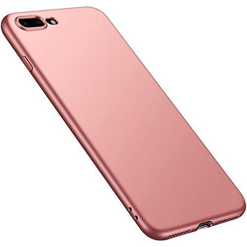 iPhone 7Plus Ultra Sottile in Silicone Opaco di caso + Colore copertura completa pellicola protettiva, sunavy 360gradi Anti Urti Anti Graffi Ultra Leggeri soffice tappetino Proteggi Custodia per app Oro rosa