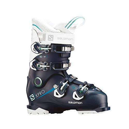 Salomon–Botas de esquí X Pro 80W Petrol BL/WH/ABL, Color Bleu Petrol, tamaño...