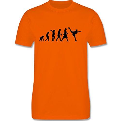 Evolution - Eisläuferin Evolution - Herren Premium T-Shirt Orange