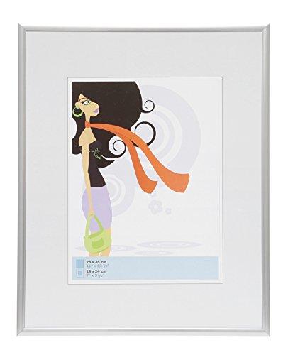 Deknudt Frames S011D1 Cadre Photo Résine Mat Argenté 30 x 45 cm