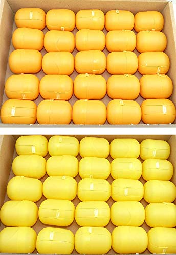 Kinder Überraschung sorpresa per bambini, 50 capsule gialle - arancione uova (uova capsula di ferrero)