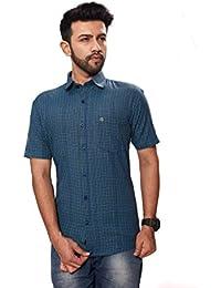 [Sponsored]Paris Plus Dashing 100% Cotton Half Sleeve Casual Men Shirt