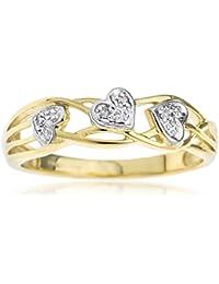 Ornami Glamour 9ct White Gold White CZ Set Bypass Ring slv03XCJ