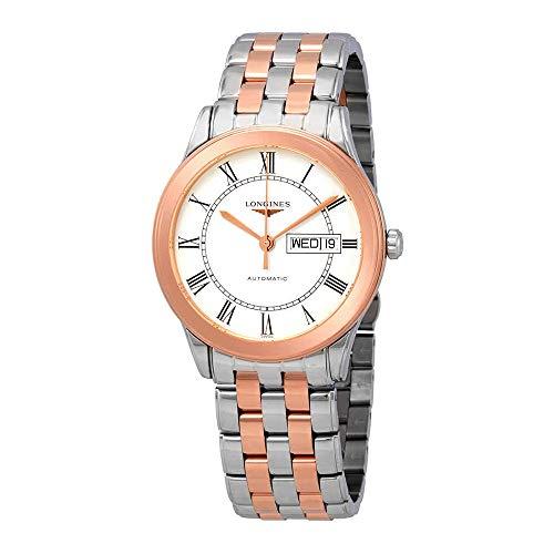 Longines Flagship L4.899.3.91.7 - Reloj automático para Hombre, Esfera Blanca