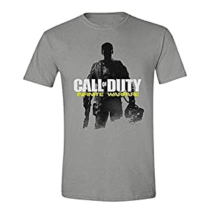 Call of Duty Infinite Warfare T-Shirt Soldier Pose, grau aus Baumwolle in Größe: S – XL