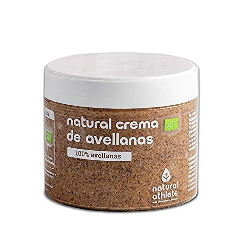 Crema di nocciola bio -natural athlete - 100% nocciole vegana - senza zucchero aggiunto - senza glutine - senza lattosio - senza additivi artificiali - 300g