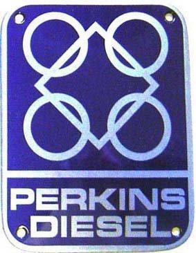 Perkins Diesel (Diesel Perkins badge (wm) porzellanemailliertem Stahl)