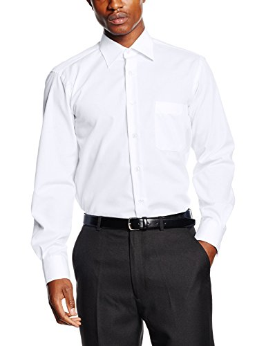 Blueblack leandro, camicia formale uomo, bianco (weiß), misura collo: 38 cm