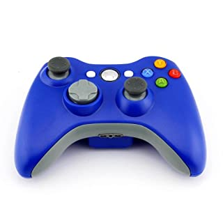 Accmart 2.4GHz Microsoft Xbox 360 Xbox360 Game Wireless Technological Remote Controller for PC Windows Blue