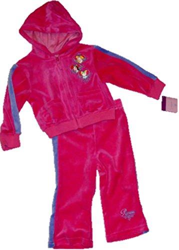 Offizielles Disney 2pc Größe 24Monate disney Princess Hot Pink Mädchen Trainingsanzug Velours ()