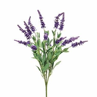 artplants.de Lavanda Artificial con 15 panículas violetas, 50cm – Flor sintética – Planta Decorativa