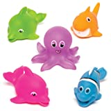Sealife Squirters for Children - Fun Party Bag Filler Loot Gifts for Kids (Pack of 5)