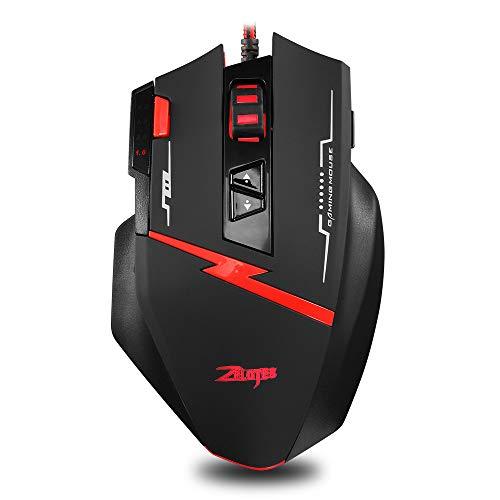 ZUEN C8 Mouse 8 Button Spiel Programmieren Sie Maus Custom Eat Chicken Pressure Gun Maus Private Mode Maus-Computer-Zubehör (Griffe Custom Gun)