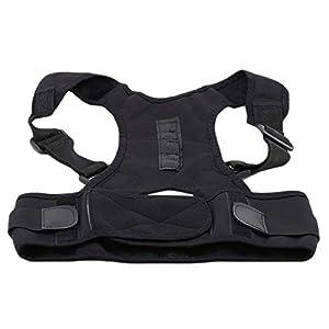 Bigsweety Schwarz Körperhaltung Korrektor Haltungskorrektur Unterstützung für Nackenschultern und Rückenschmerzen
