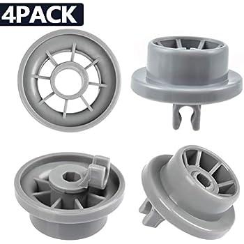 2 x Hotpoint Dishwasher Lower Bottom Basket Rack Wheel Wheels Large