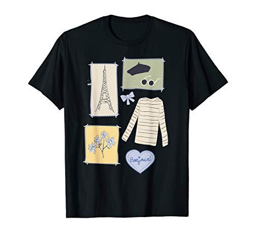 Paris France Eiffel Tower Retro Souvenir French Vintage Gift T-Shirt -