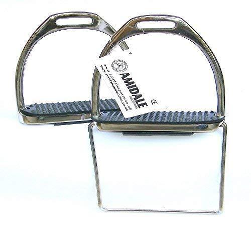 Flexible Seguridad Estribos Equitación Placas Flexibles Acero Inoxidable