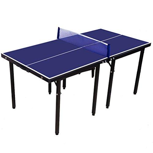 Portable Indoor Outdoor Junior Tischtennis Tisch Blue Space Saver Falten Tischtennisplatte mit Net Bestes für Geschenk