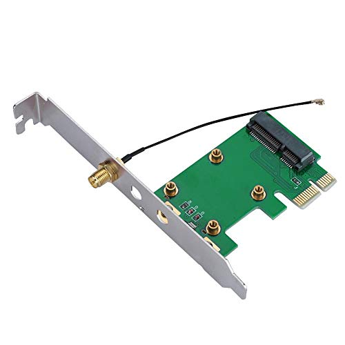 Mugast Mini PCI-E Adapter,Mini PCI-E auf PCI-E Express Riser Netzwerkkarte External Adapter,PCI-E Riser Card Mini PCI Wireless Netzwerkkarte Konverter für Windows 98/2000/XP/Vista/7/8 usw.