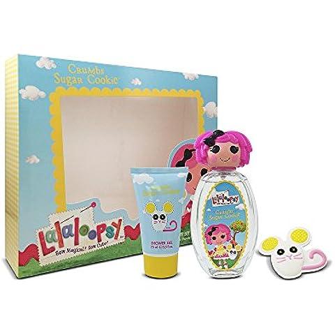 Lalaloopsy Crumbs Sugar Cookie Cute Coffret: Eau De Toilette Spray 100ml + Shower Gel 75ml + French Barrette 3pcs