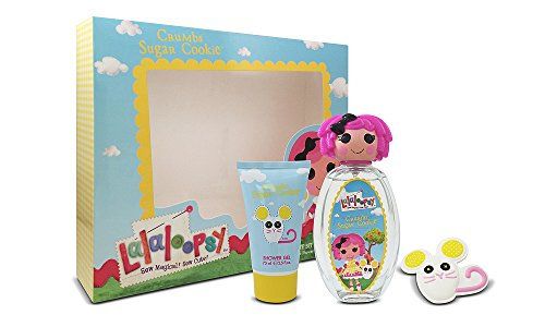 Lalaloopsy Crumbs Sugar Cookie Cute Coffret: Eau De Toilette Spray 100ml + Shower Gel 75ml + French Barrette 3pcs (Crumbs Cookie Sugar)