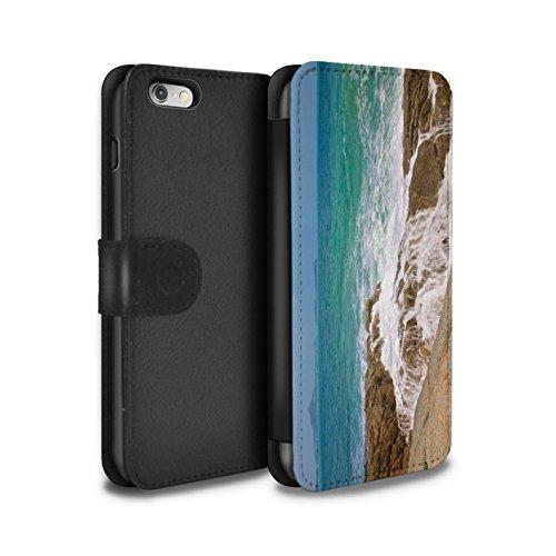 STUFF4 PU-Leder Hülle/Case/Tasche/Cover für Apple iPhone 6 / Feuerwerk Muster / Thailand Landschaft Kollektion Küstenfelsen